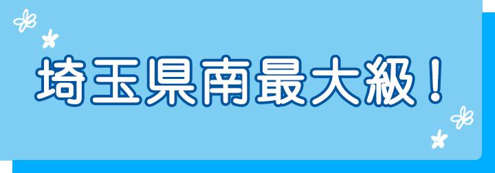 埼玉県南最大級!